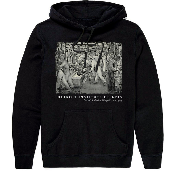 Detroit Industry South Wall, Rivera Hooded Sweatshirt