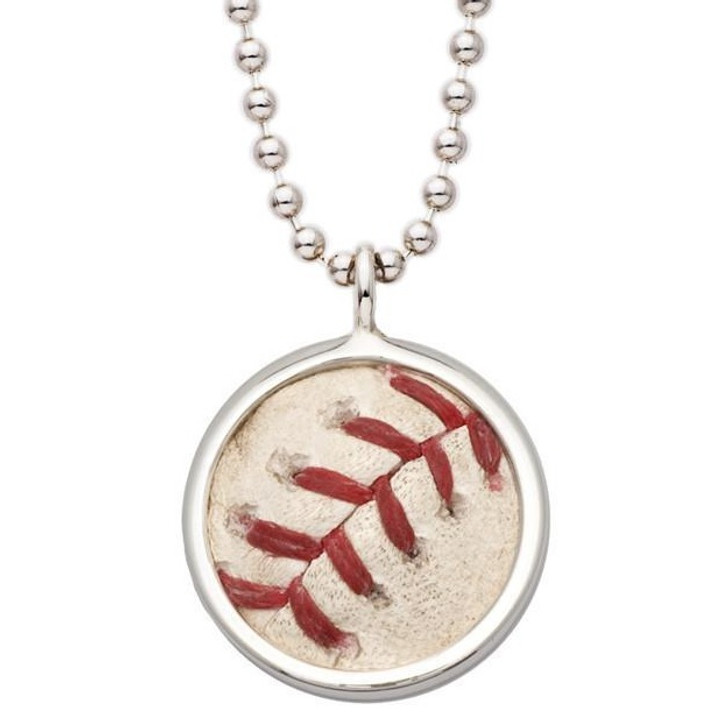 Detroit Tigers Authentic Game Ball Pendant Necklace