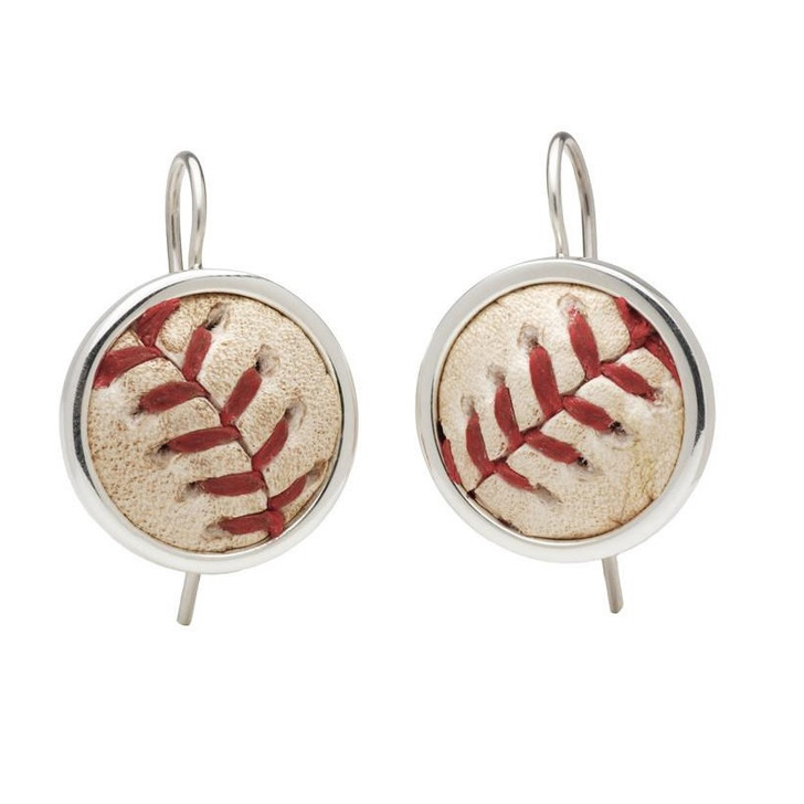 Detroit Tigers Authentic Game Ball Earrings