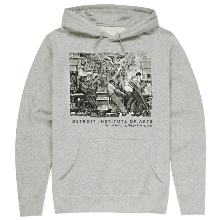 Detroit Industry North Wall, Rivera Hooded Sweatshirt