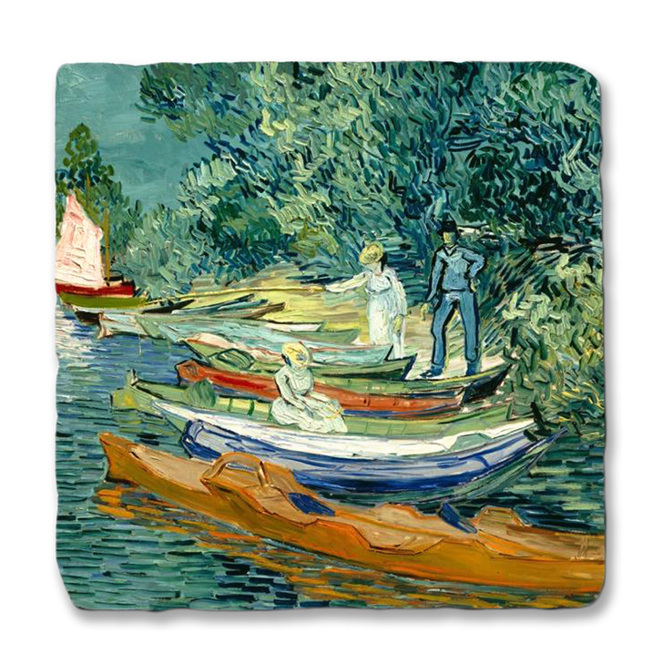 Van Gogh's Bank of the Oise at Auvers Coaster