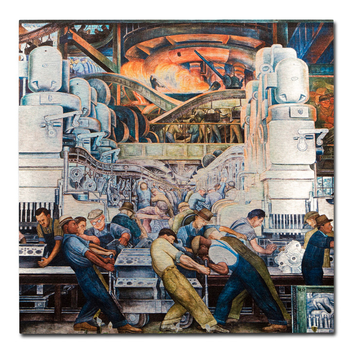 Diego Rivera Detroit Industry Murals North Wall Aluminum Print