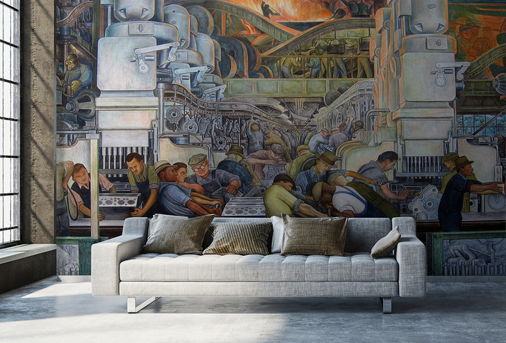 Detroit Industry, North Wall Wallpaper Mural