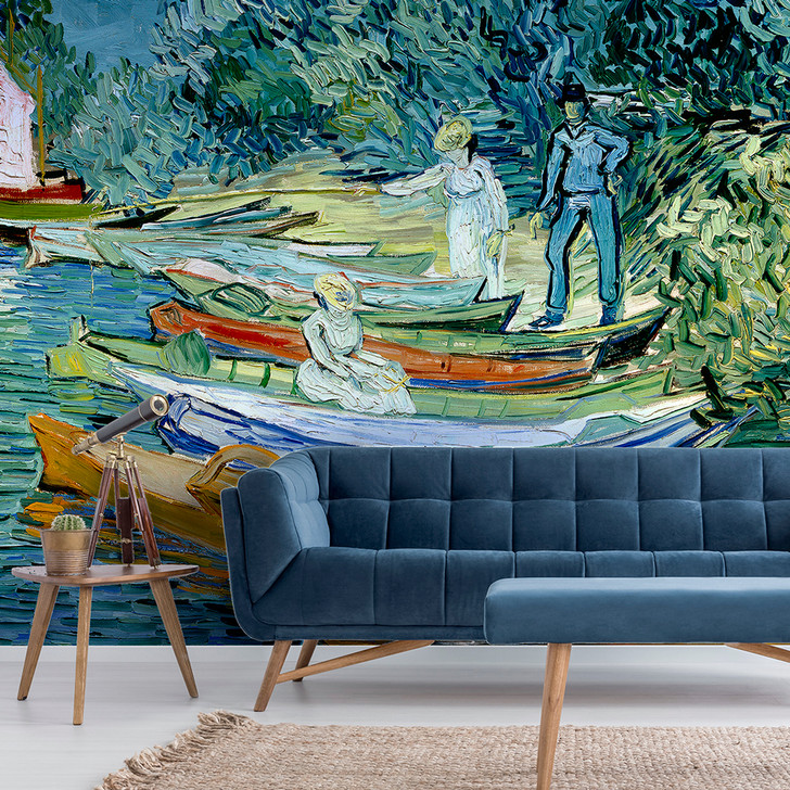 Bank of the Oise at Auvers, Van Gogh Wallpaper Mural