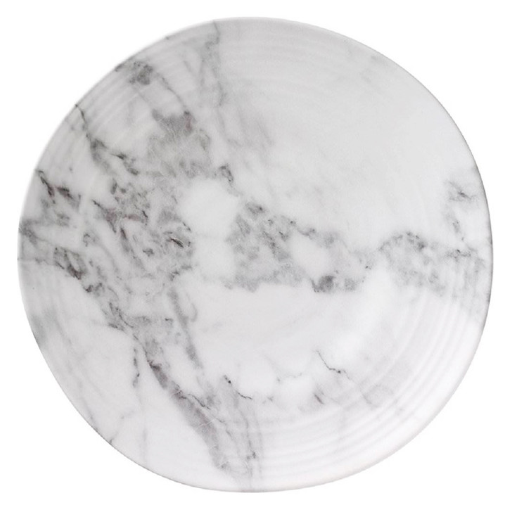 Marble Look Melamine Dinner Plate