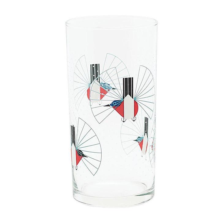 Charley Harper Hummingbird in Flight Glass