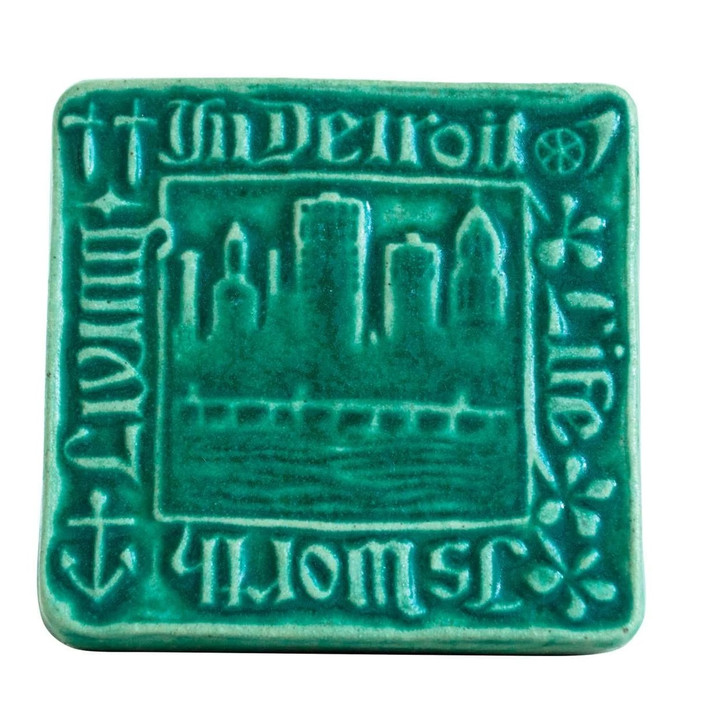 Pewabic Pottery Life is Worth Living in Detroit Tile Assorted