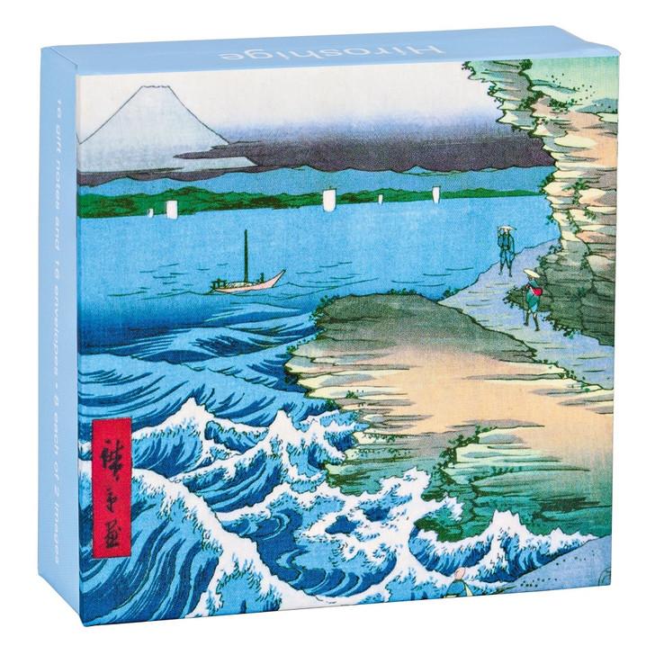 Hiroshige Mini Flip Top Notecard Box