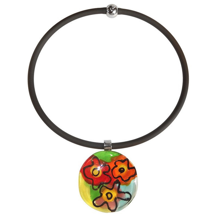 Murano Glass Abstract G Necklace