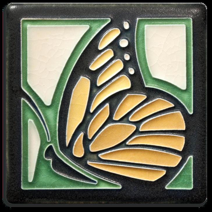 Motawi Tileworks Butterfly Tile Green