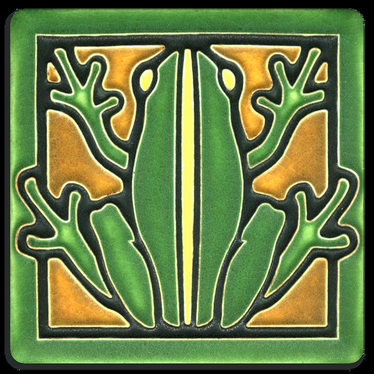 Motawi Tileworks Frog Tile Green