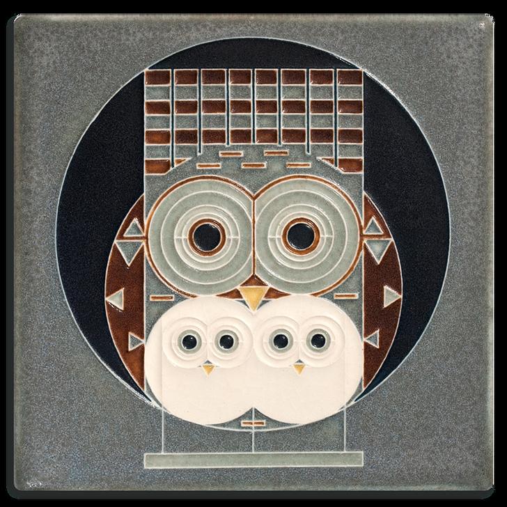 Motawi Tileworks Family Owlbum Tile 6x6