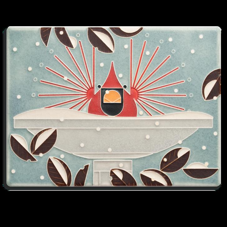 Motawi Tileworks Charley Harper Brrrrdbath Tile 6x8