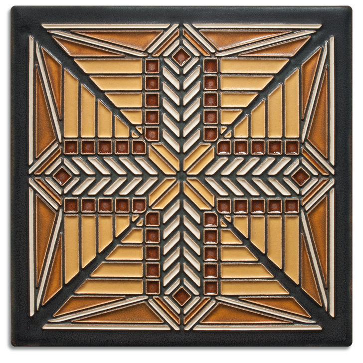 Motawi Tileworks Frank Lloyd Wright Prairie Star Tile 8x8
