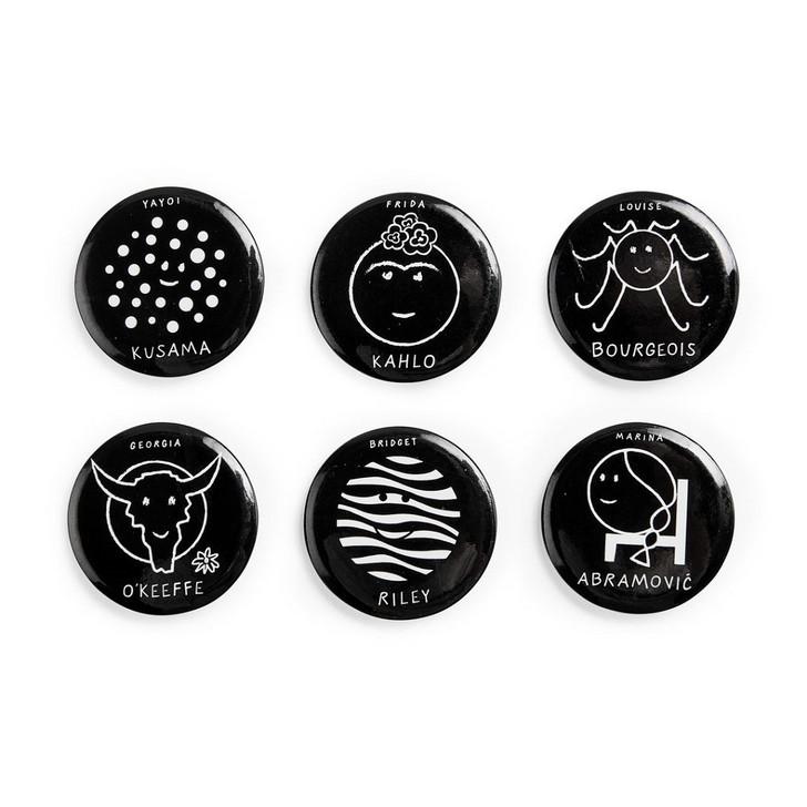 Herstory of Art Button Set