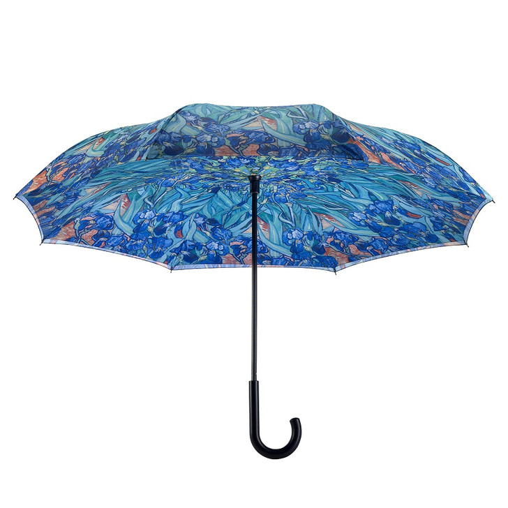 Van Gogh, Irises Reverse Umbrella