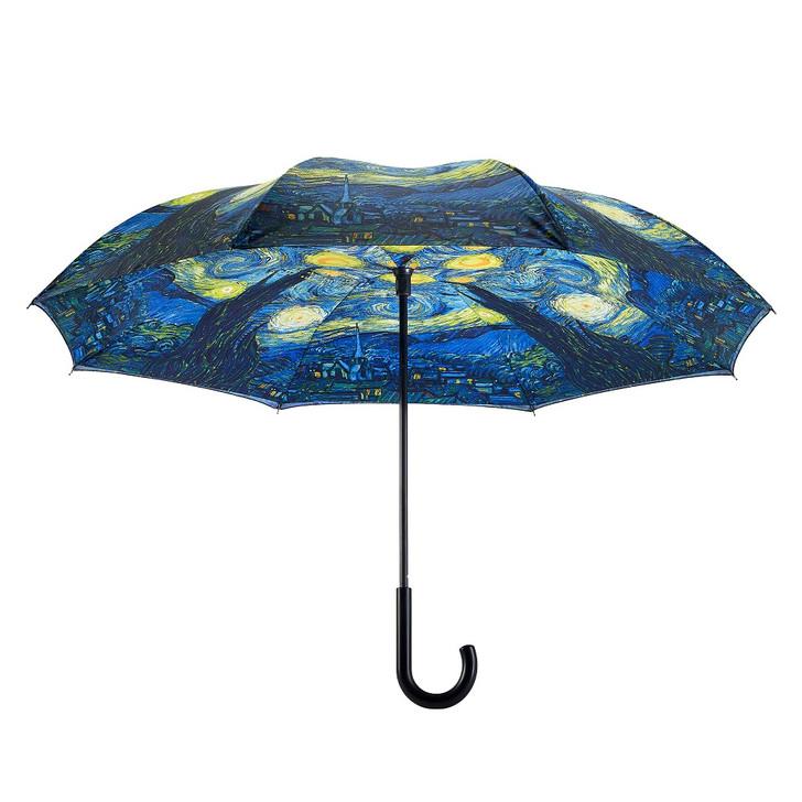 Van Gogh, Starry Night Reverse Umbrella