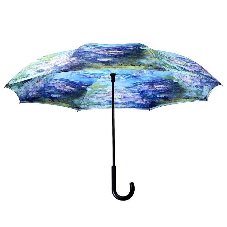 Monet, Water Lilies Reverse Umbrella