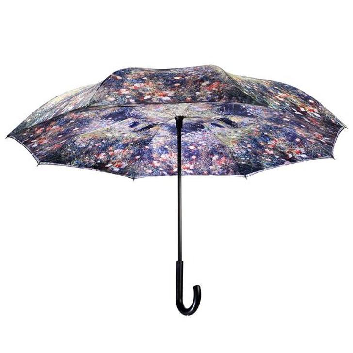Woman with Parasol in a Garden, Renoir Reverse Umbrella
