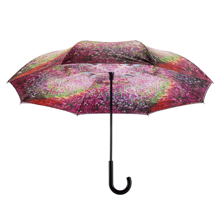 Monet, Garden Reverse Stick Umbrella