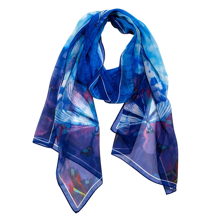 Stained Glass Dragonfly, Tiffany Scarf