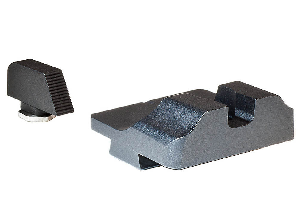 Warren Tactical Plain Steel Sight Set for Standard Glocks (19/17/23/22)