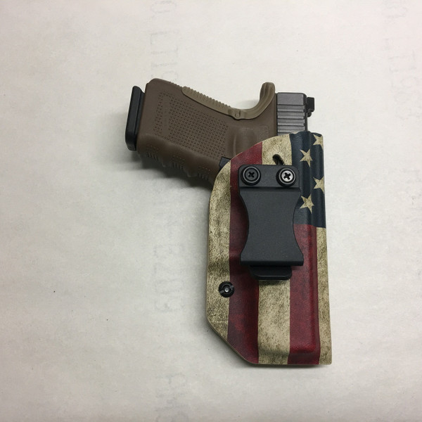 Patriotic IWB Holster w/Adjustable Belt Clip