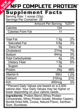 NFP Complete Protein Supplement Facts
