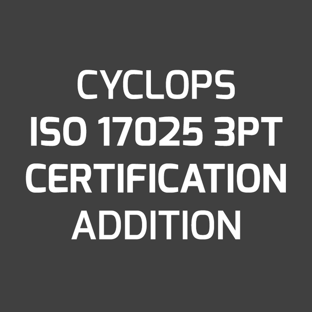 ISO 17025 3PT Certification on New Instrument