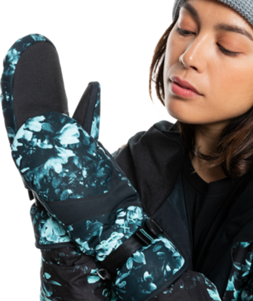 Keep your hands toasty warm by slipping them inside these extra-soft waterproof ROXY ski mittens.