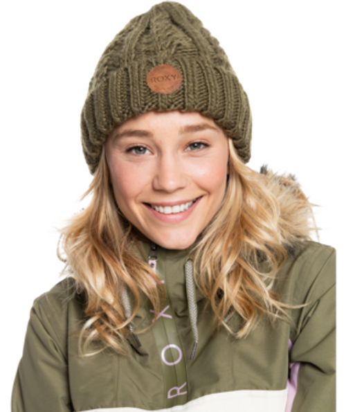 The Tram Beanie has you looking adorably winter-ready with a chunky cable knit design.