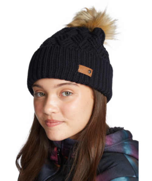 Crafted from a luxurious wool blend, the bright white and true black colorways can be worked with your favorite snow pieces from ROXY.