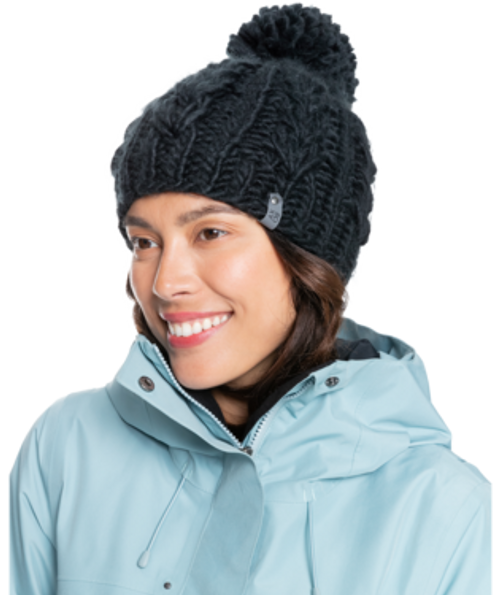 Crafted from plush acrylic fabric, the cable knit design has a polar fleece lined to keep warmth in and cold breezes out.