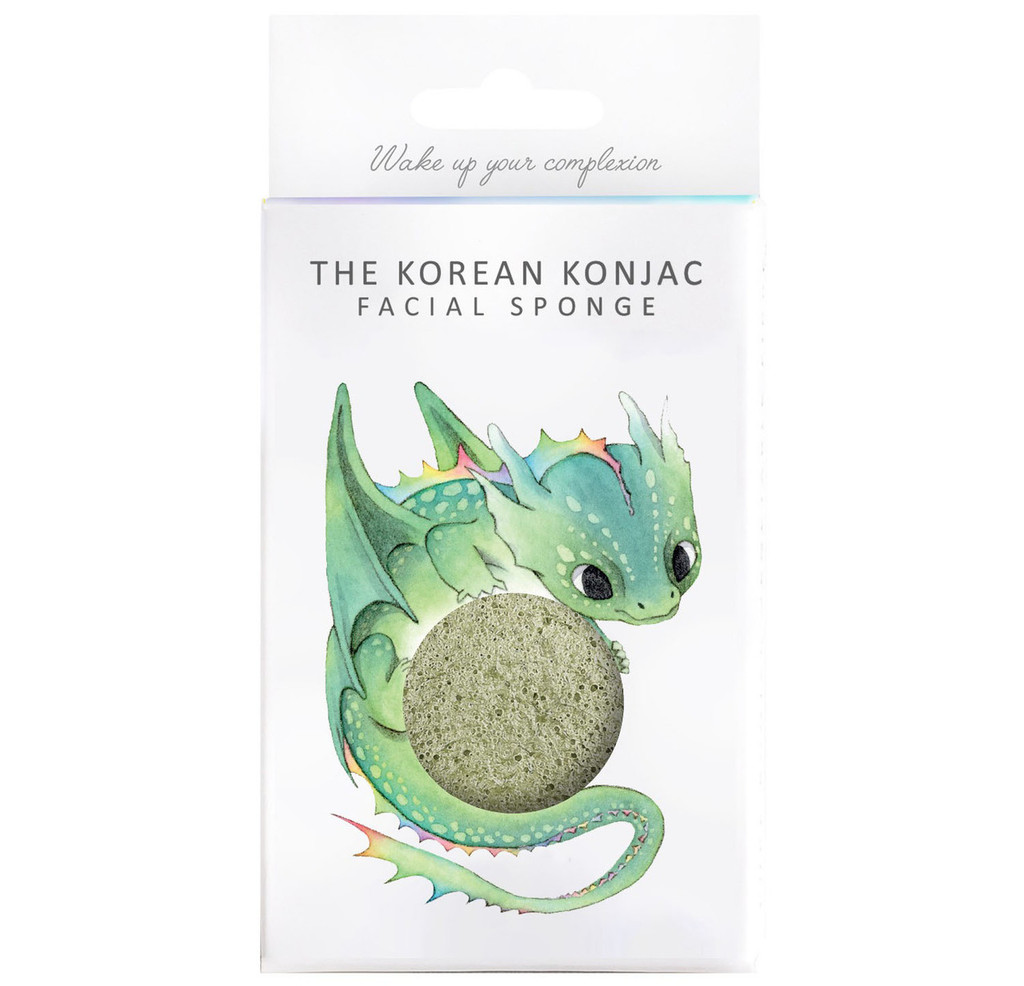 Mythical Dragon Konjac Face Sponge & Hook - French Green Clay