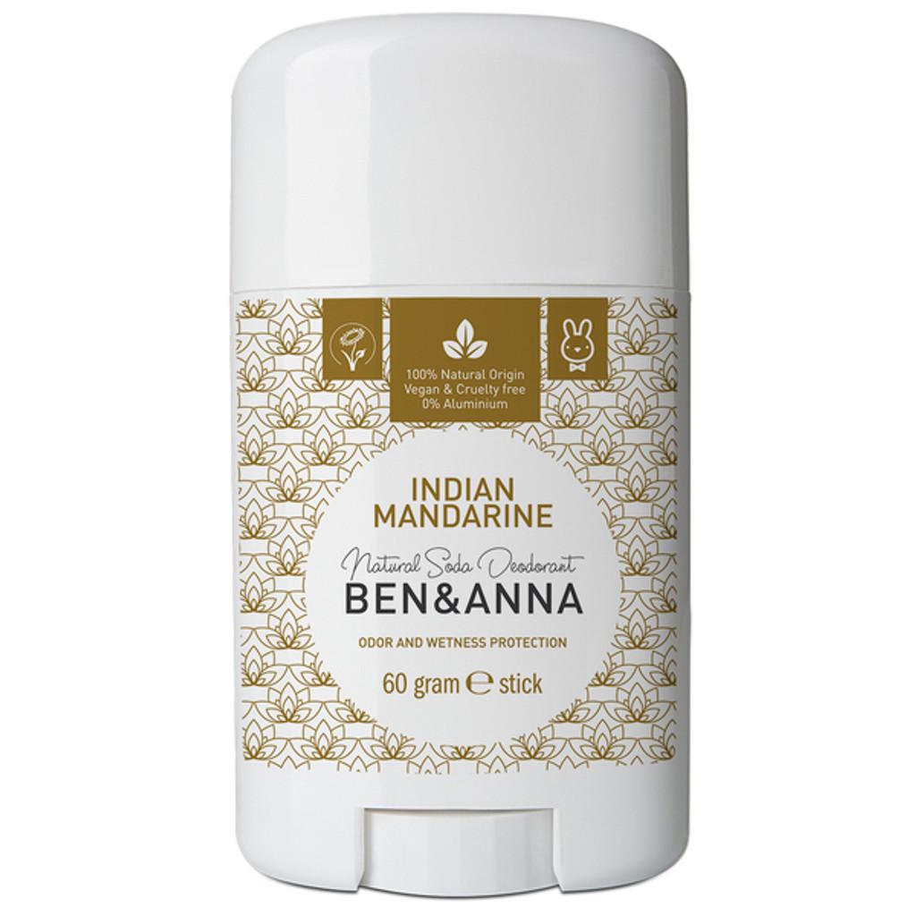 Natural Soda Deodorant Stick - Indian Mandarin 60g