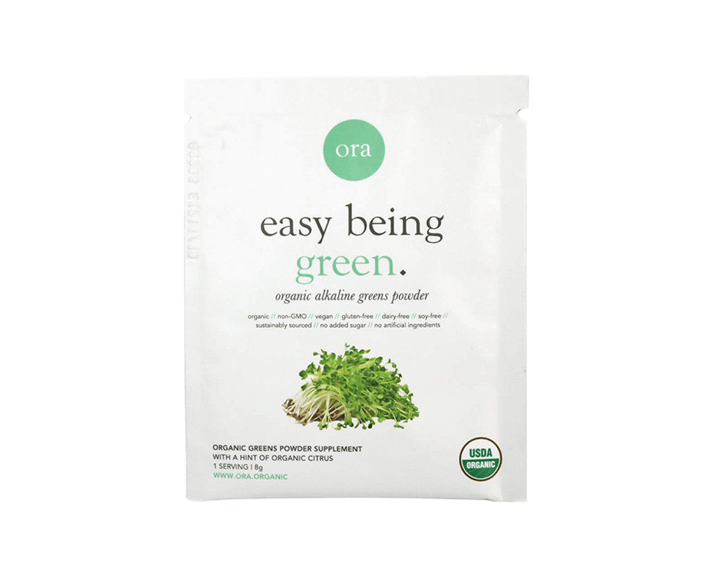 Organic Alkaline Greens Superfood Powder Sachet (Easy Being Green) 8g