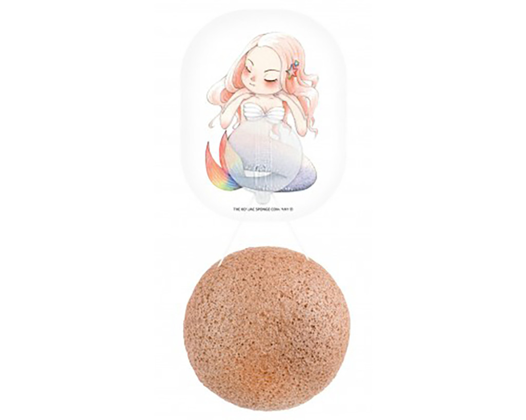 Mythical Mermaid Konjac Face Sponge & Hook - French Pink Clay