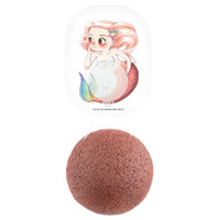 Mythical Mermaid Konjac Face Sponge & Hook - French Red Clay
