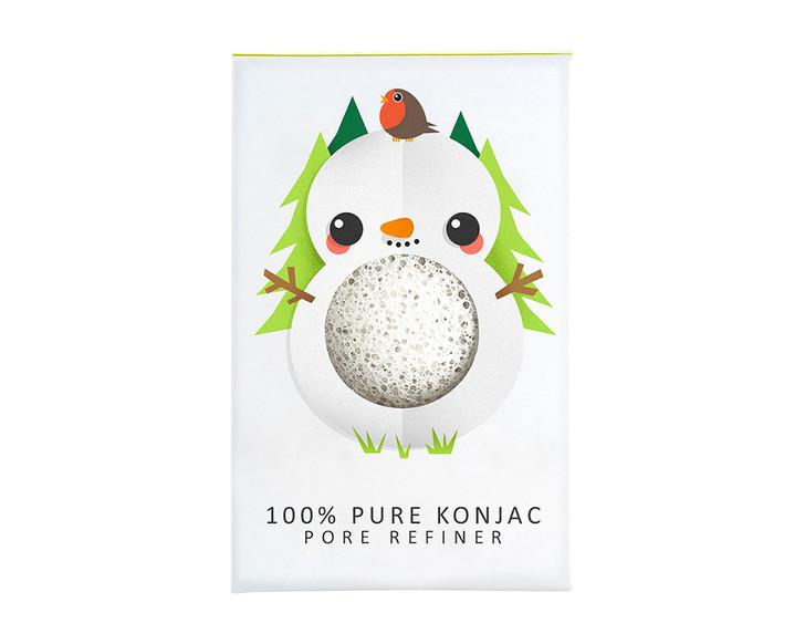 100% Pure Konjac Mini Snowman Pore Refiner