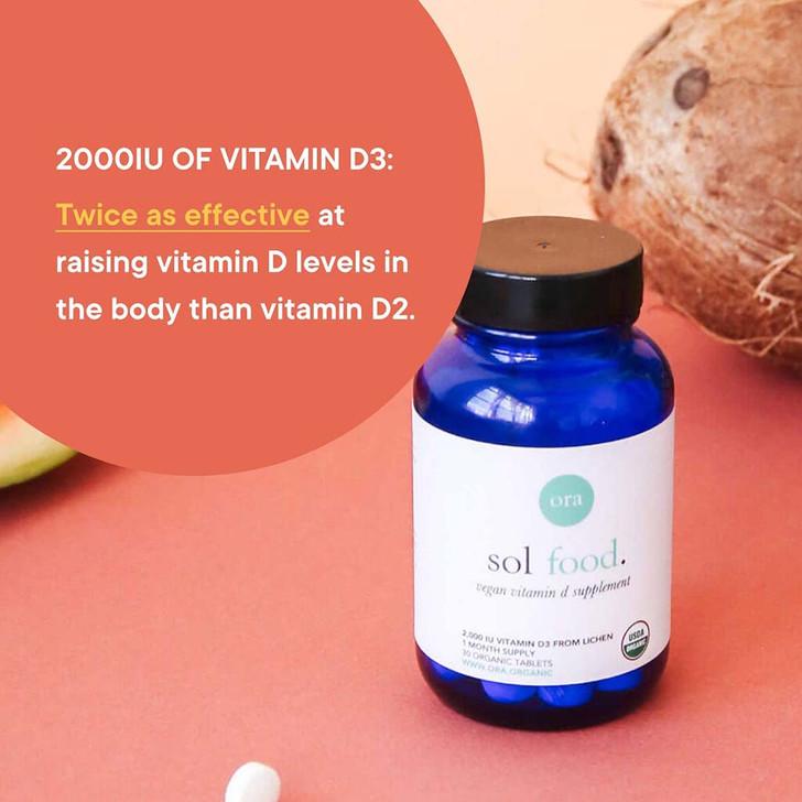 Vegan Vitamin D (Sol Food) 30 tablets