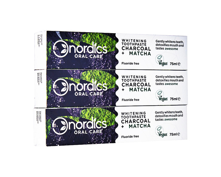 Whitening Toothpaste Charcoal + Matcha Value Pack
