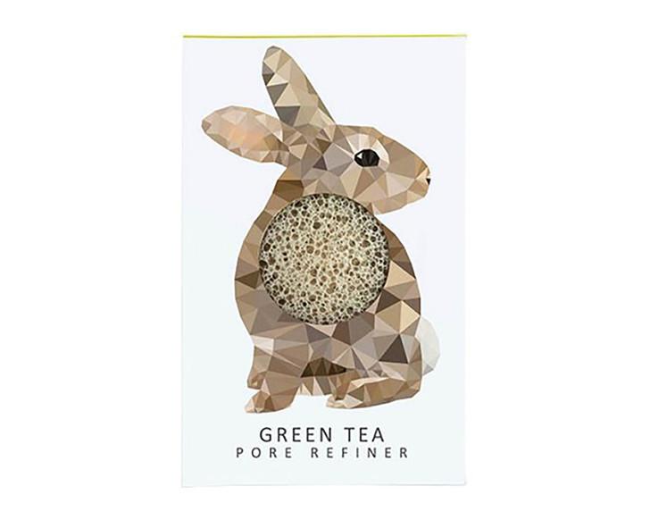 Konjac Mini Pore Refiner Woodland Rabbit with Green Tea
