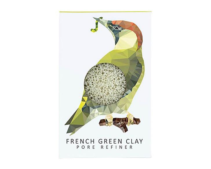 Konjac Mini Pore Refiner Woodland Woodpecker with French Green Clay
