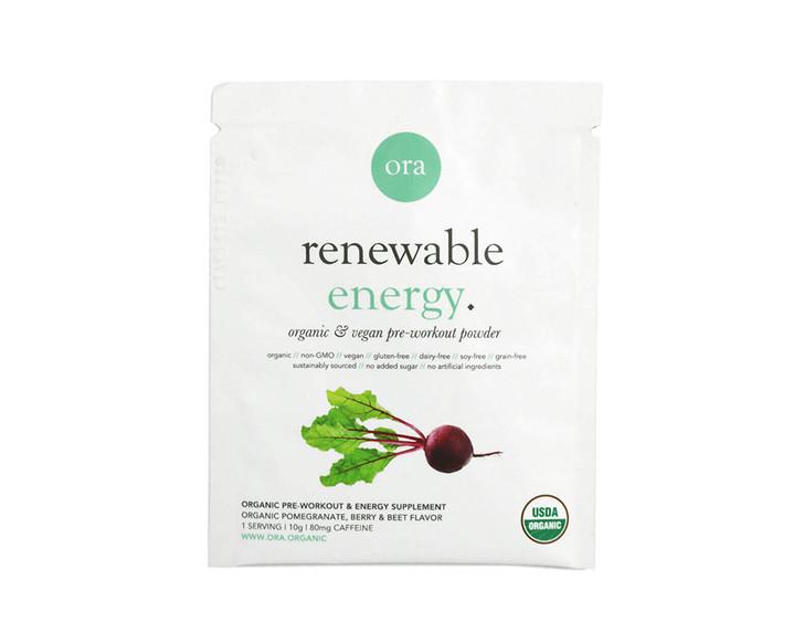 Organic Pre-Workout Powder Sachet (Renewable Energy) 10g