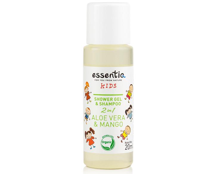 Shower Gel and Shampoo Kids 2 in 1 Aloe Vera & Mango 20ml (mini)
