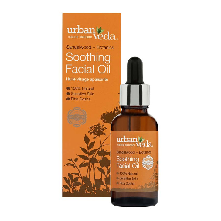 Soothing Facial Oil - Sandalwood + Botanics 30ml