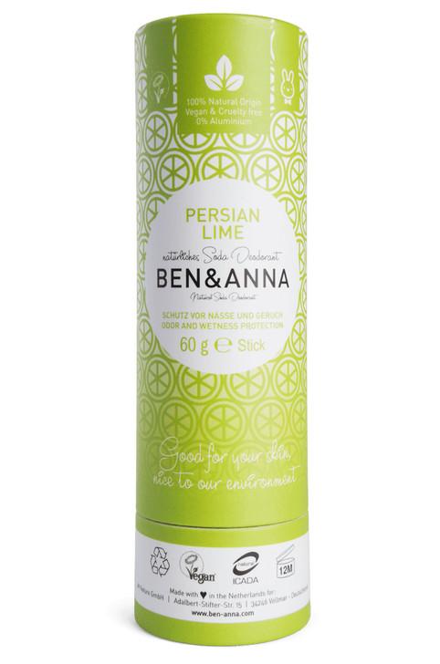 Natural Soda Deodorant Paper Tube - Persian Lime 60g