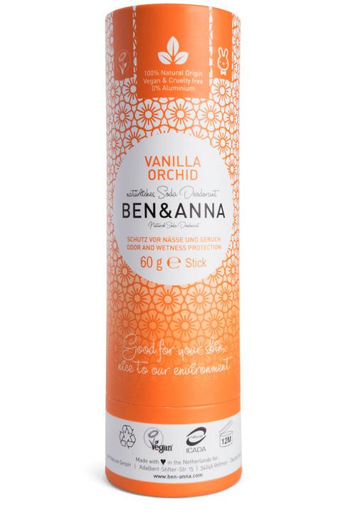 Natural Soda Deodorant Paper Tube - Vanilla Orchid 60g