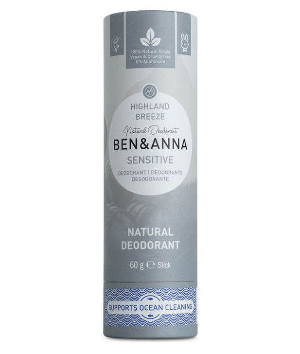 Natural Deodorant Paper Tube Sensitive - Highland Breeze 60g
