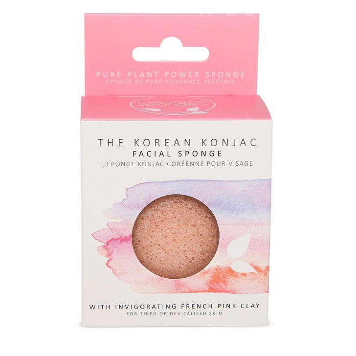 Konjac Premium Facial Puff Sponge With French Pink Clay